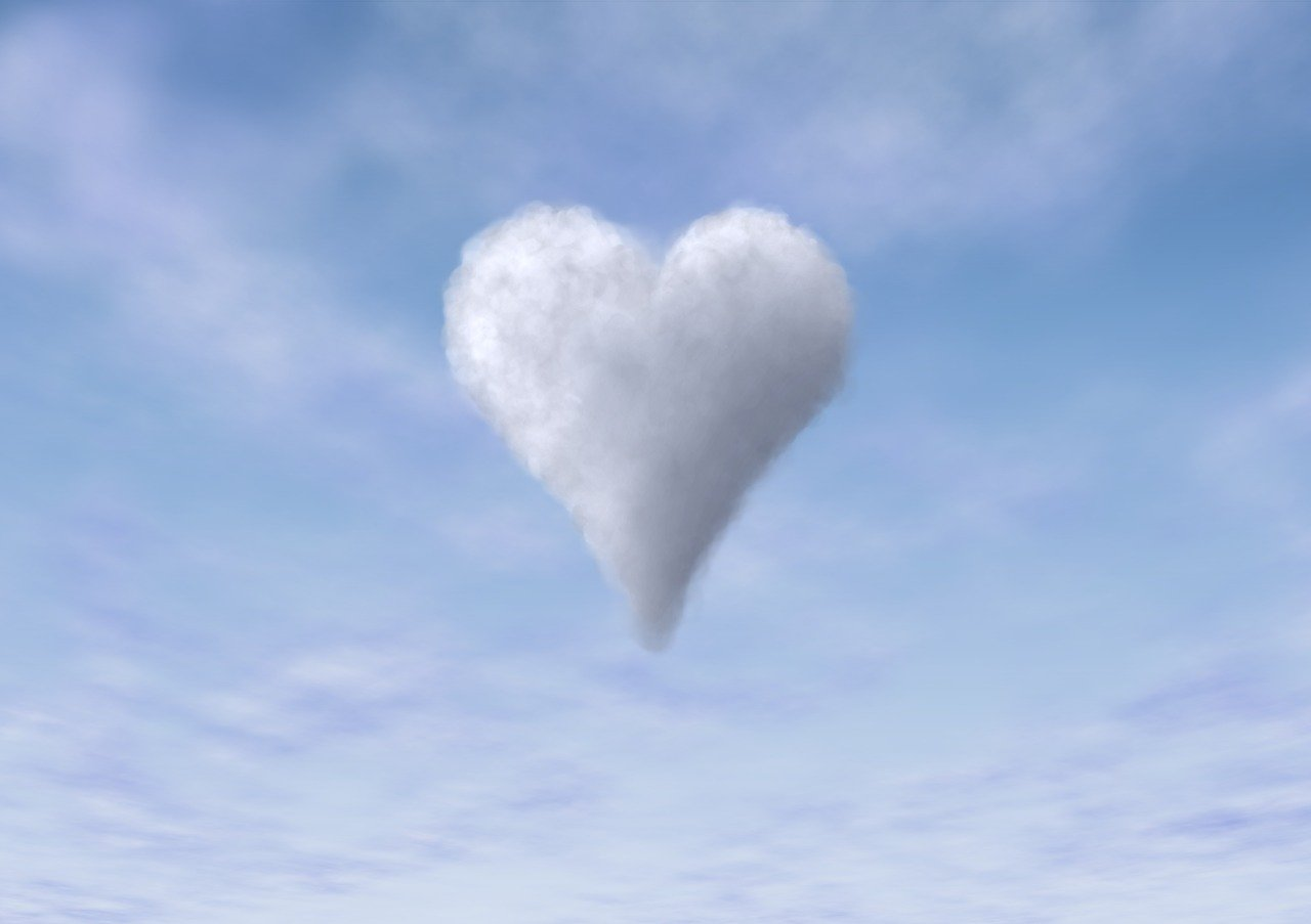 cloud, sky, heart